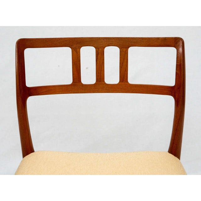 Teak Set of 4 Niels Moller Dining Chairs For Sale - Image 7 of 9