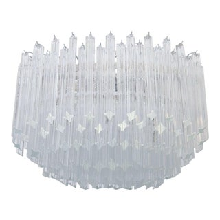 Mid-Century Multi-Tiered Venini Glass Chandelier For Sale