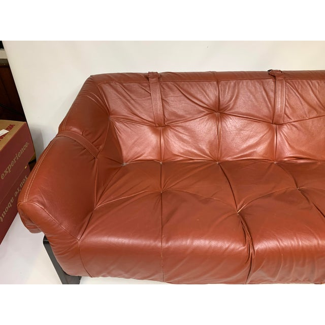 1950s 1950s Vintage Percival Lafer Brazilian Rosewood & Leather Sofa For Sale - Image 5 of 12