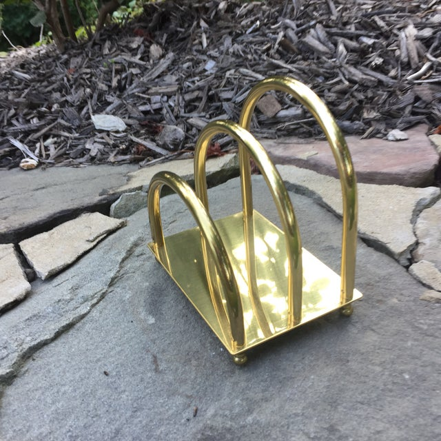 Vintage Brass Art Deco Mail Holder - Image 6 of 7