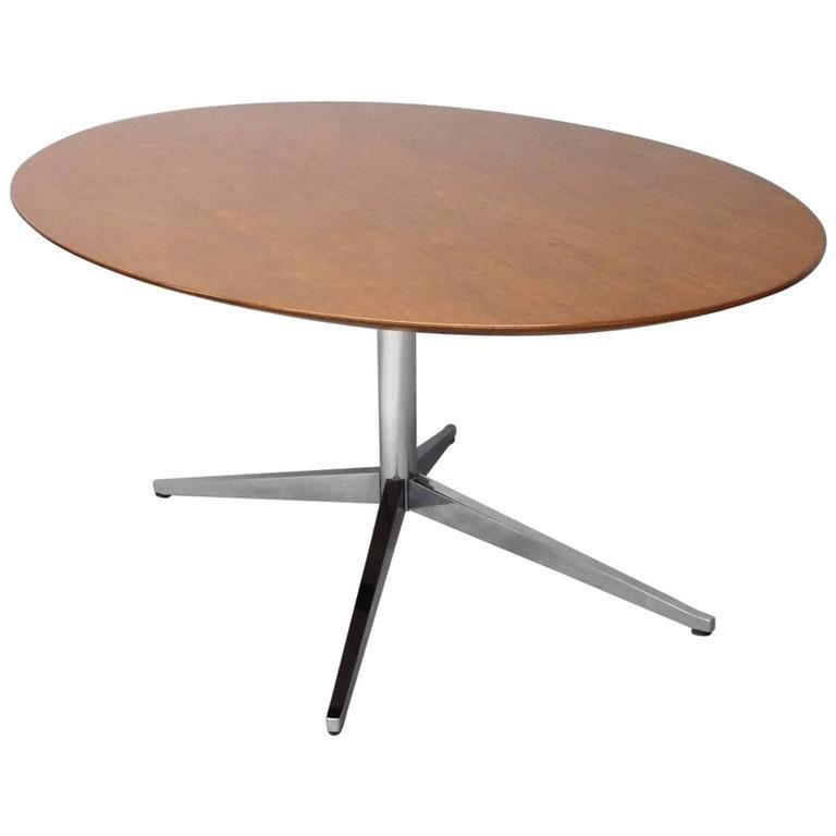 Nicely Finished Florence Knoll Teak Top Conference Table Desk   Image 4 Of 4