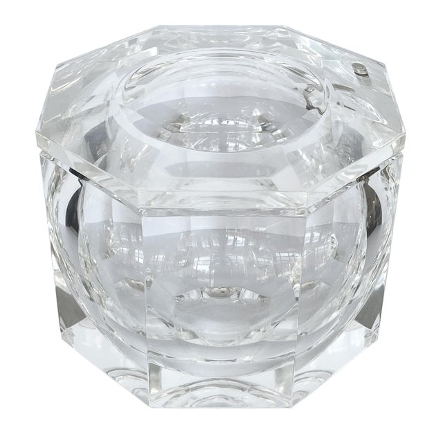 Lucite Ice Bucket by Alessando Albrizzi For Sale - Image 9 of 9