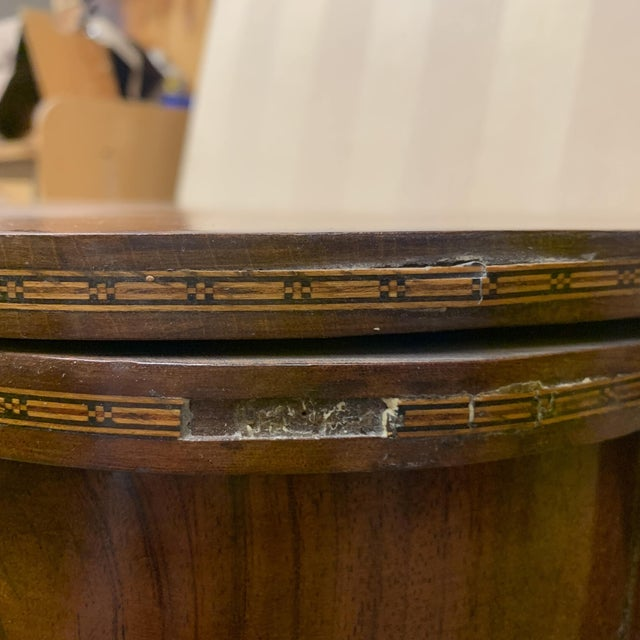 George III Mahogany and Inlaid Fold-Top Console Table For Sale - Image 12 of 13