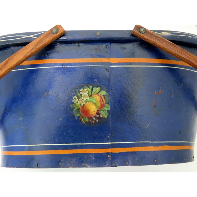 1890s Antique Grocery Shopping Carry Basket For Sale - Image 9 of 13