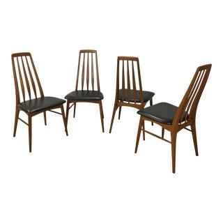 "Danish Modern Teak ""Eva"" Dining Chairs by Neils Koefoed For Sale"
