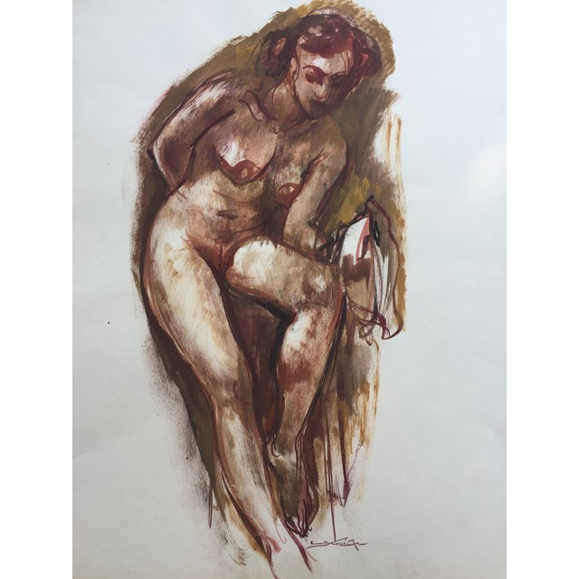 Watercolor Nude Emil Kosa Jr. Renowned Artist 1950 - Image 5 of 5