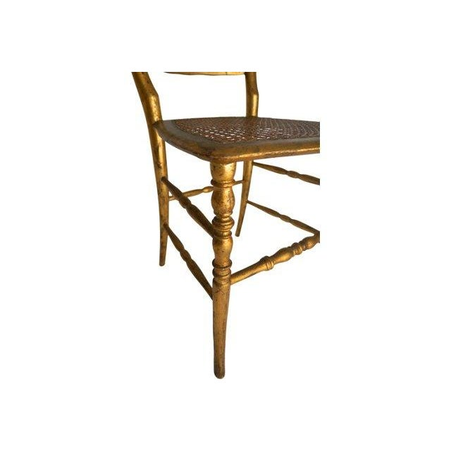 Vintage Chiavari Style Gold Chair - Image 4 of 5