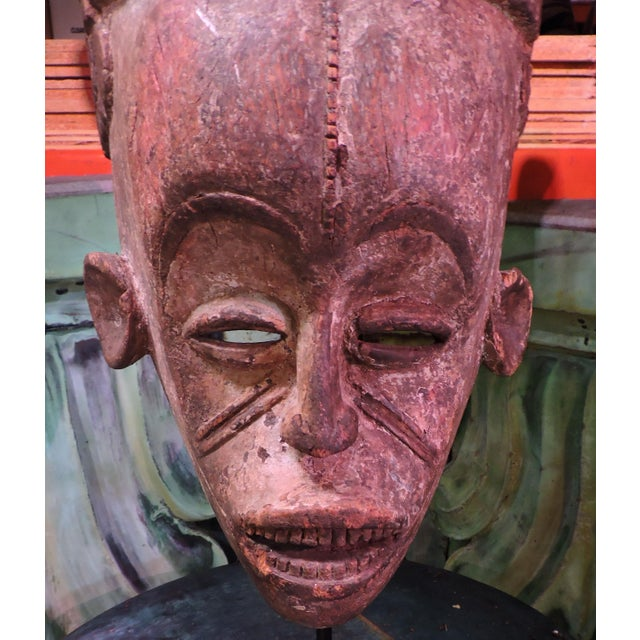 1900s Ceremonial Igbo Tribe Wooden Mask For Sale - Image 5 of 7
