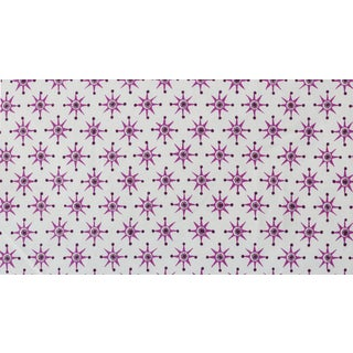 Virginia Kraft Prinz Fabric, Sample in Rose/blackberry For Sale