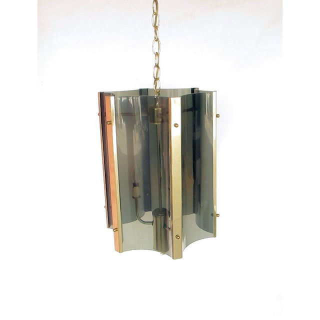 1960s Lucite And Brass Pendant - Image 2 of 5