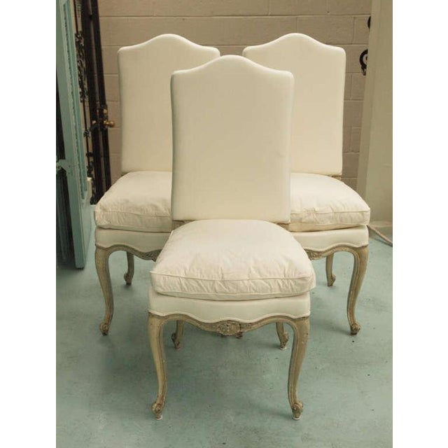 French Set of Six 19th Century Louis XV Dining Chairs For Sale - Image 3 of 9
