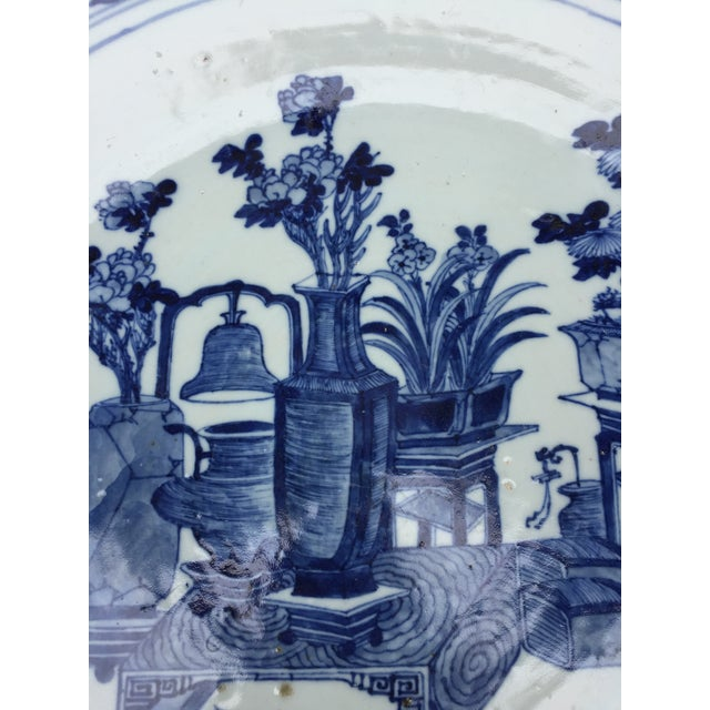 Part of a large Chinoiserie collection, gathered from China in 1970's, this oversized chinoiserie plate will grace your...