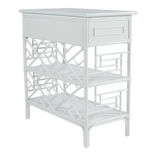 Chippendale End Table - White For Sale