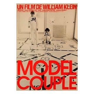 "1977 Vintage ""The Model Couple"" Framed Original French Movie Poster For Sale"
