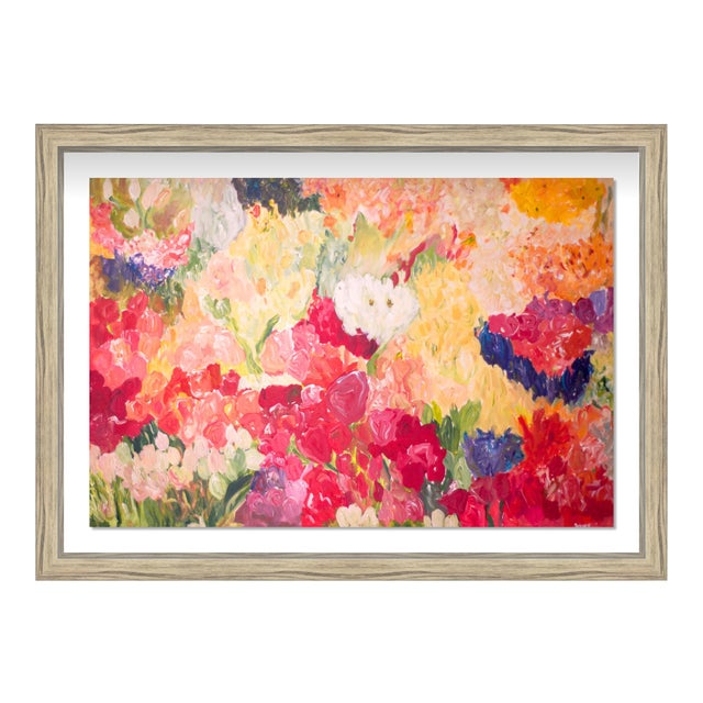 "Oliver Gal Medium 'Claire Sower- Tuppence a Bunch' Framed Art 26"" x 18"" For Sale"