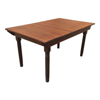18th Century Primitive Dining Table For Sale