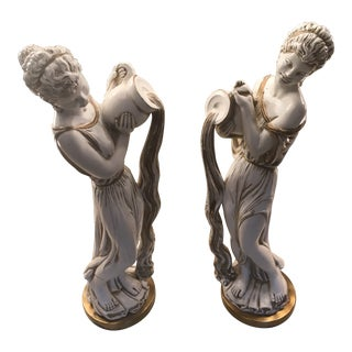 1950s Grecian Water Bearer Statues - a Pair For Sale