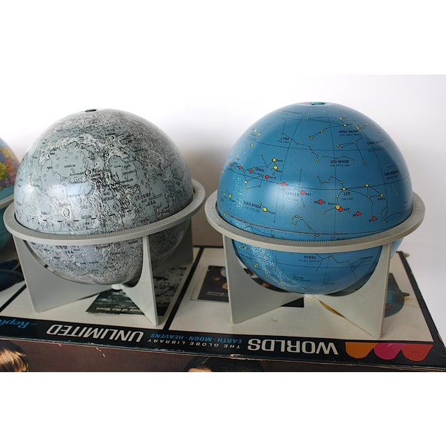 1970s Vintage Moon Celestial Earth Globes- Set of 3 For Sale - Image 5 of 11