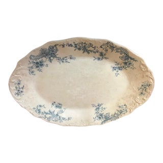 Antique 1800s Porcelain Serving Platter For Sale