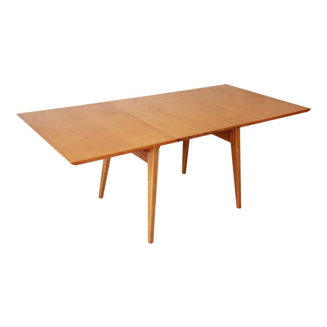 Jens Risom Mid-Century Modern Maple Dining Table For Sale
