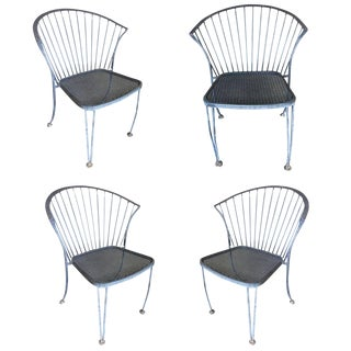 Woodard Pinecrest Iron Patio/Outdoor Lounge Chair, Set of Four For Sale