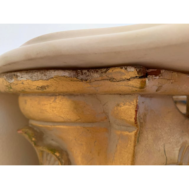 20th Century Louis XV Giltwood Console Table With Marble Top For Sale - Image 9 of 13