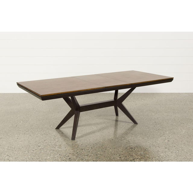 Brown Mid-Century Modern Walnut Dining Table For Sale - Image 8 of 8