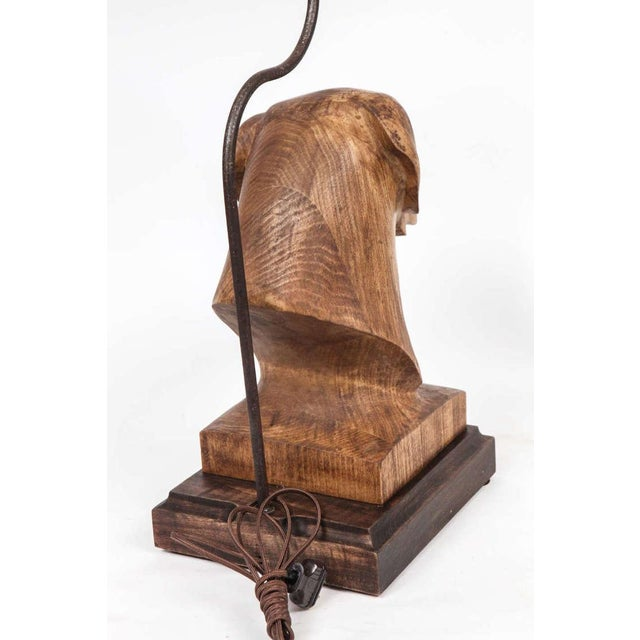 JW Custom Line Carved Dog Lamp For Sale In Los Angeles - Image 6 of 7