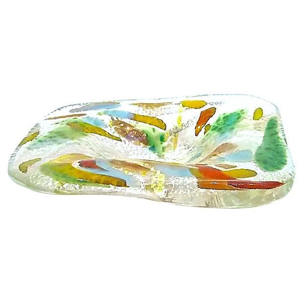 Mid-Century Modern Irridescent Colored Glass Dish - Image 3 of 4