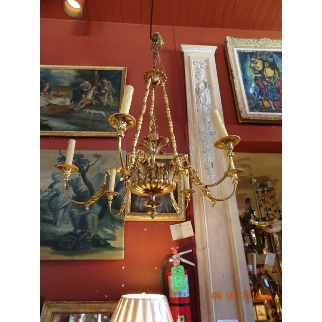 19th Century Italian Gilt Wood Chandelier For Sale - Image 12 of 13