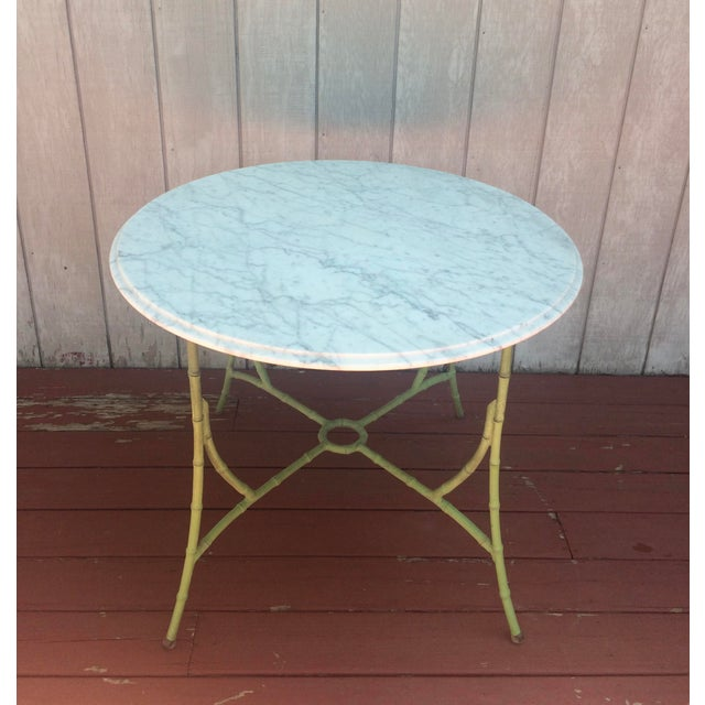 Marble Top Bistro Table - Image 3 of 8