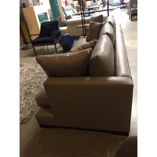 """Nathan Anthony Leather """"Super Nova"""" Sofa - Image 4 of 4"""