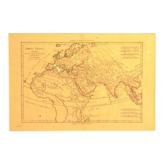 1781 Europe Asia & Africa Map by Bonne For Sale