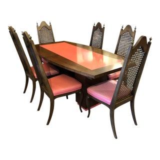 Mid-Century Erwin-Lambeth Inlaid Dining Set