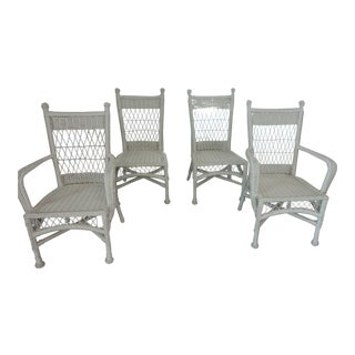Modern Lane Venture Bar Harbor Outdoor Dining Chairs- Set of 4 For Sale