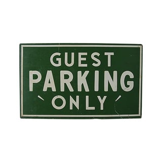 Guest Parking Only, Screen Printed Sign For Sale
