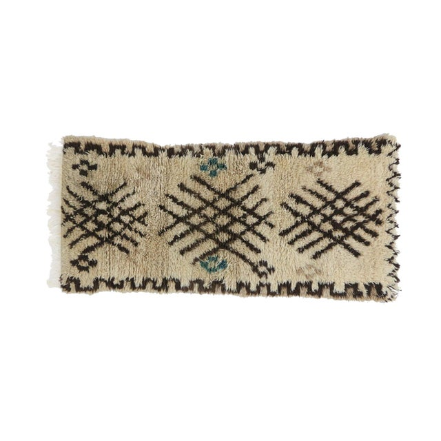 Moroccan Rug handwoven by women of the Azilal tribe in the Middle Atlas Mountains. The Azilal rug is a more colorful...