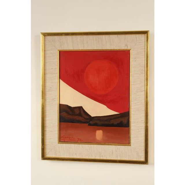 Red Abstract Painting by Antonio Guanse For Sale - Image 8 of 13