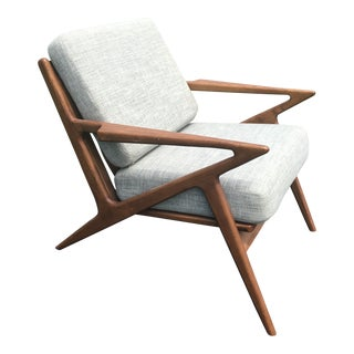 Mid Century Selig Style Z Chair For Sale