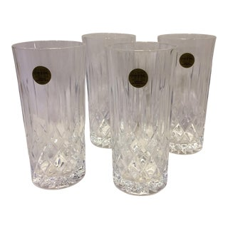 Vintage Capri Lead Cut Crystal Highball Glasses - Set of 4