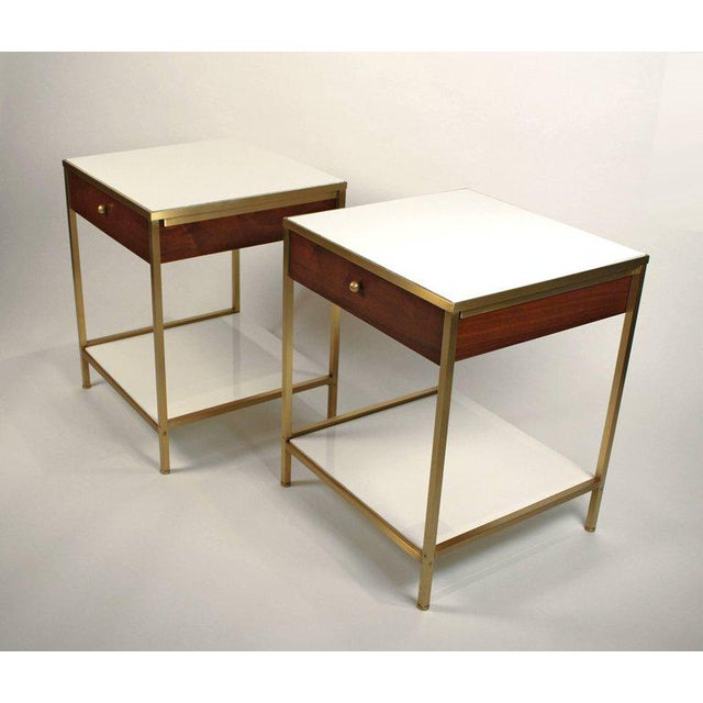 High end harvey probber milk glass brass and walnut midcentury harvey probber milk glass brass and walnut midcentury nightstands image 3 of 8 watchthetrailerfo