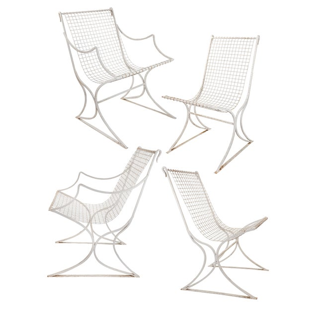 Salterini Mid-Century Modern White Metal Chairs - Set of 4 For Sale - Image 13 of 13