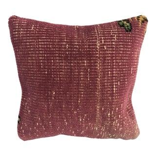Turkish Oushak Handmade Anatolian Pillow Cover For Sale