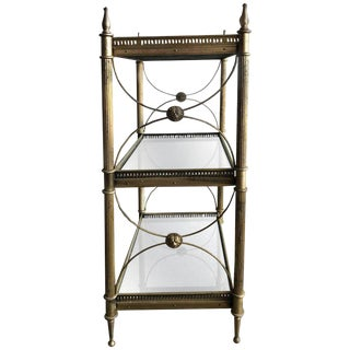 Vintage Maison Bagues Three Tiers Silvered Bronze Table