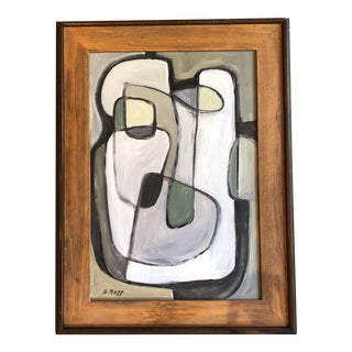 Original Stewart Ross Modernist Abstract Painting