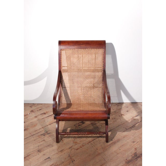 British Colonial Plantation Cane Chair For Sale - Image 4 of 8