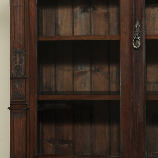 Brown 19th Century Renaissance Revival Bookcase With Angels~ Putti For Sale - Image 8 of 13