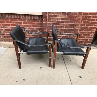 Mid Century Modern 3 Pieces Maurice Burke Chairs & Ottoman Preview