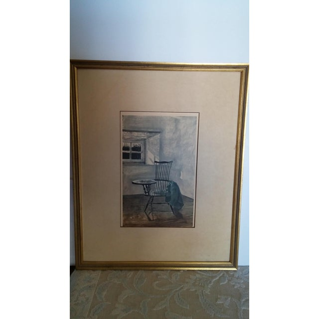 "White 1961 Andrew Wyeth ""Early October"" Drawing For Sale - Image 8 of 8"