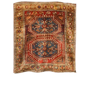 Antique 19th Century Turkish Konya Rug For Sale